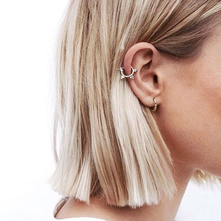 Earrings Studs Short Piercing Ears Earring Blonde Bar