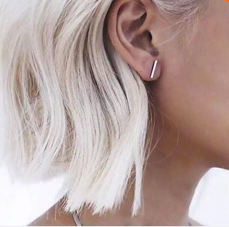 Blonde Bar Earrings Studs Stud Earring