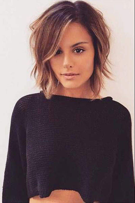 Bob Short Layered Thin Shaggy Part Natural Long 20
