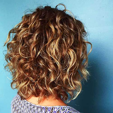 Layered Curly Short Ombre Curls Balayage All