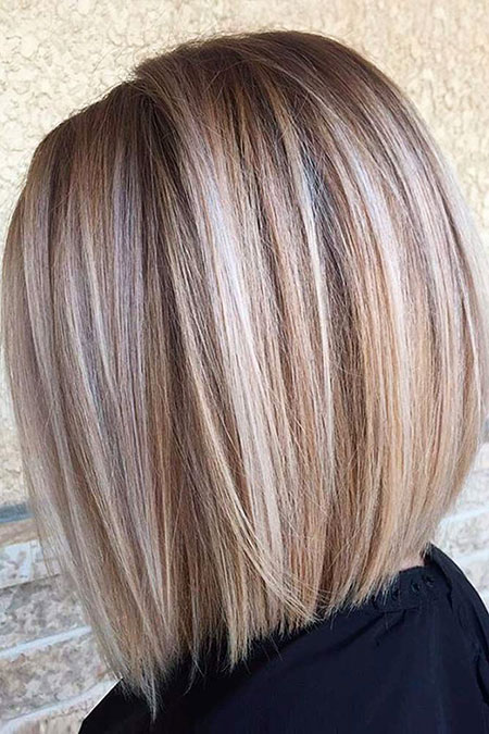 Bob Blonde Stacked Sassy Balayage Trendy Short