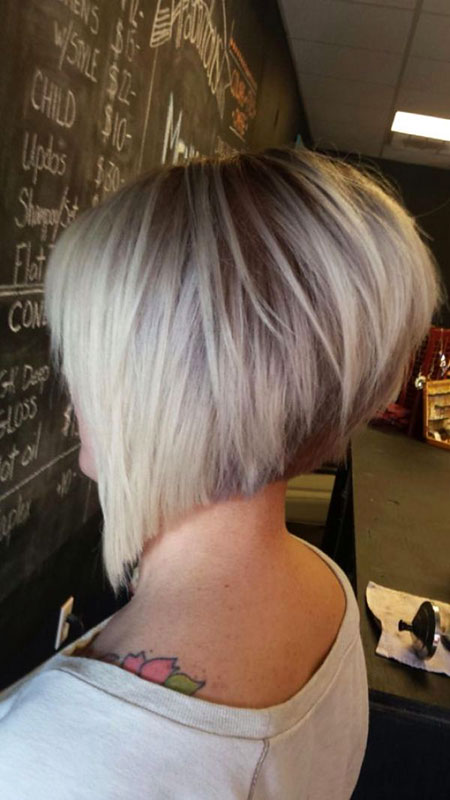 Bob Stacked Short Layered Inverted Bobs Asymmetrical