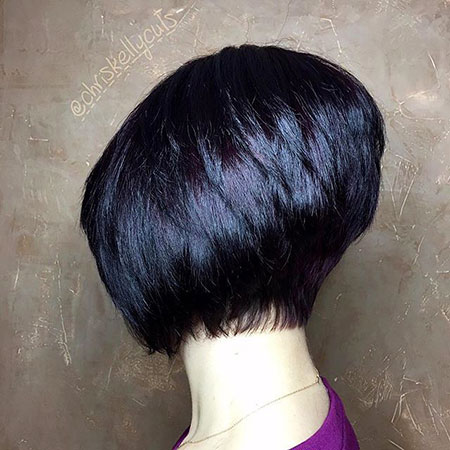 Bob Short Stacked Sassy Really Pixie Layered Denman Cute Coloring Bobs