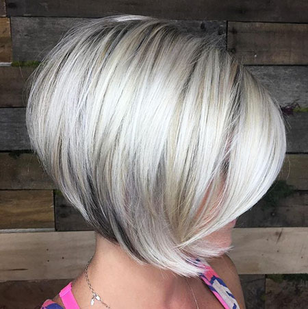 Blonde Bob Platinum Women Short Shade Retro