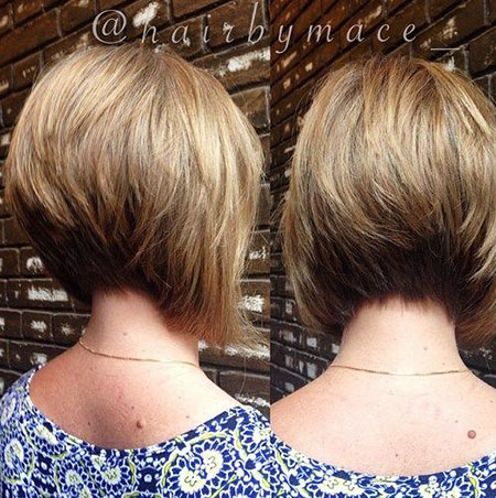Short Bob Stacked Bobs Longer Fine Cute All