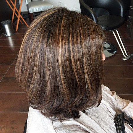 Highlights Brown Bob Small Natural Lowlights Low