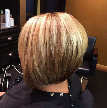 Bob Highlights Bobs Trendy Stacked Blonde Very Two