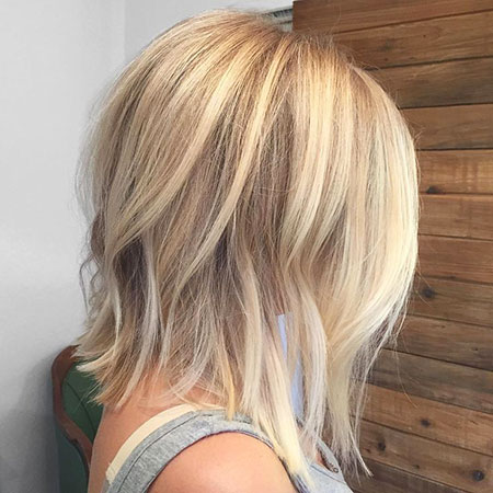 Blonde Highlights Balayage Short Long Line Bright Bob