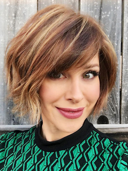 Short Bob Up Textured Sachse Round Kloss Karlie