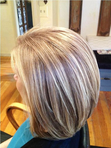 Highlights Gray Bob Blonde Up Lowlights Grey