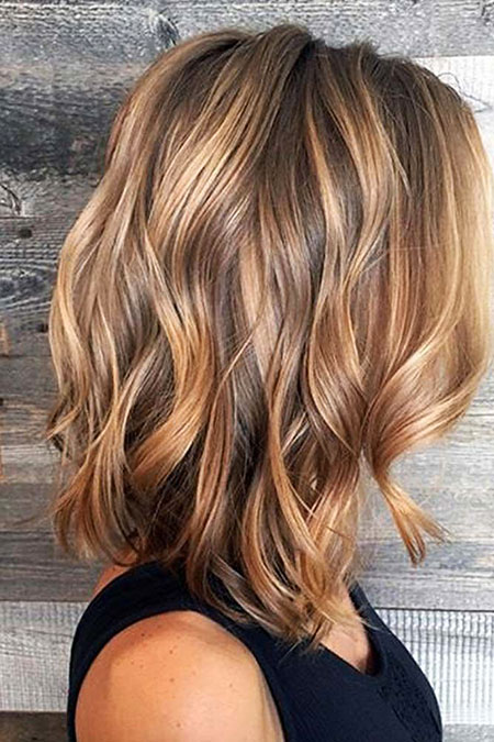 Balayage Highlights Caramel Brown Blonde Tones Tone