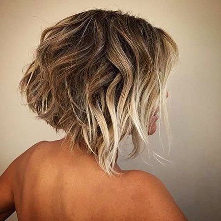 Short Bob Balayage Highlights Blonde Tones Shades Ombre