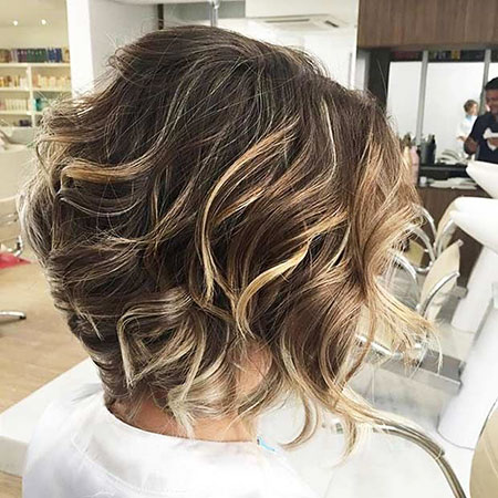 Highlights Blonde Balayage Short Layered Brown
