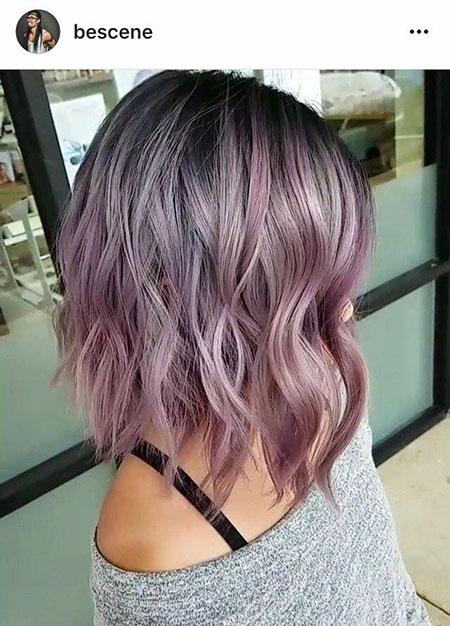 Purple Pastel Mauve Lavender Bob