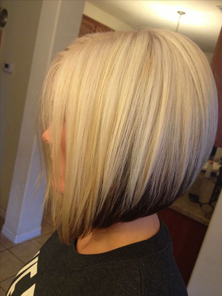 Bob Blonde Underneath Short Brown Bobs Women