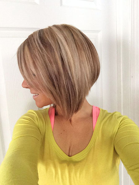 Bob Highlights Bobs Blonde Short Round Reverse