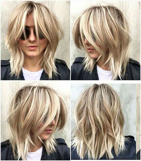 Short Bob Women Wavy Highlights High Fashion