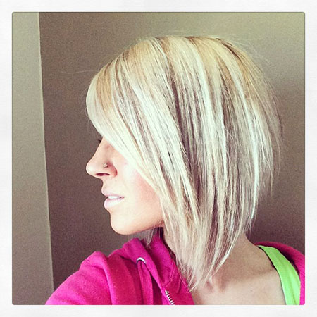 Bob Short Reverse Front Bobs Blonde Back