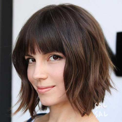 Bob Haircuts with Bangs-15