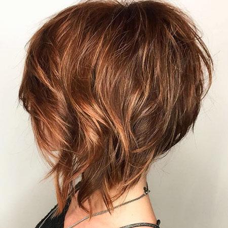 Layered Haircut, Bob Layered Angled Wispy