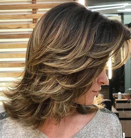 Layered Brown Medium Blonde