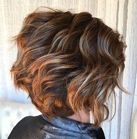 Layered Brown Hair Bob