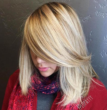 Blonde Hair Lob Bob