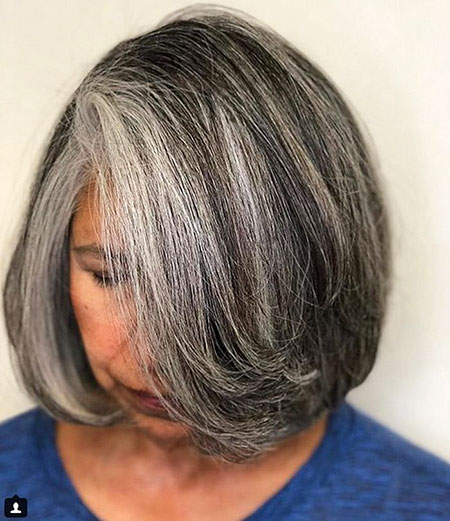 Bob Older Women Gray