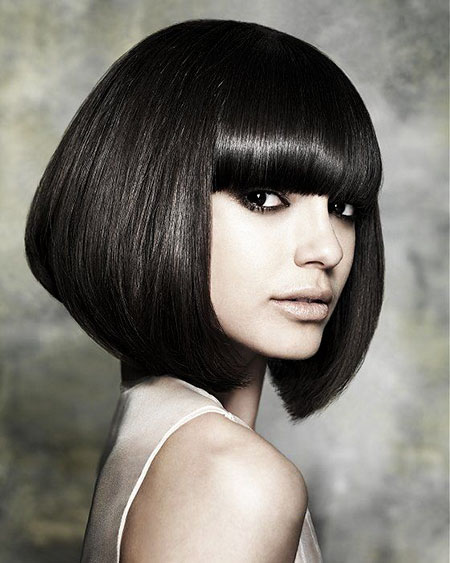 Short Bob Girl Bangs