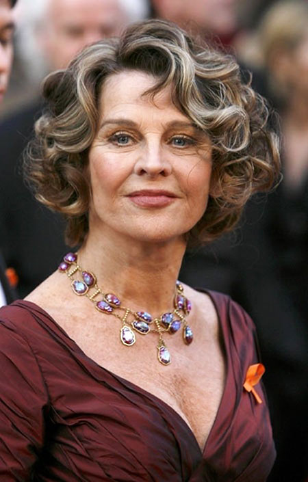 Curly Hairtyle, Curly Older Women Short