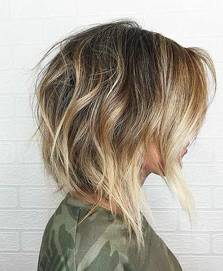Choppy Bob Balayage Blonde