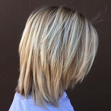 Chopped Hairtyle, Bob Blonde Balayage Chopped