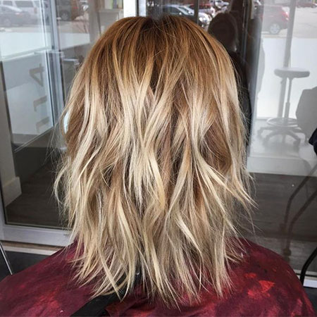 Hair Blonde Color Shag