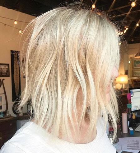 Blonde Balayage Bob Thin