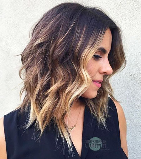 Choppy Hair Balayage Bob