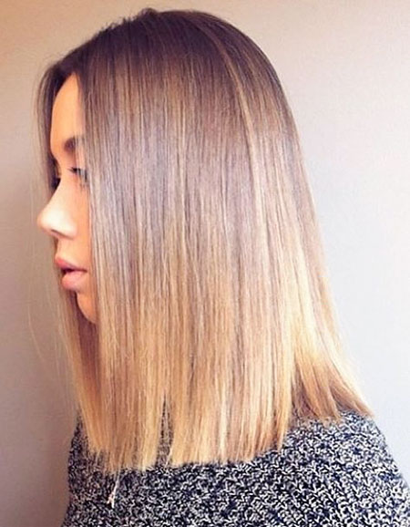 Blonde Length Shoulder Hair