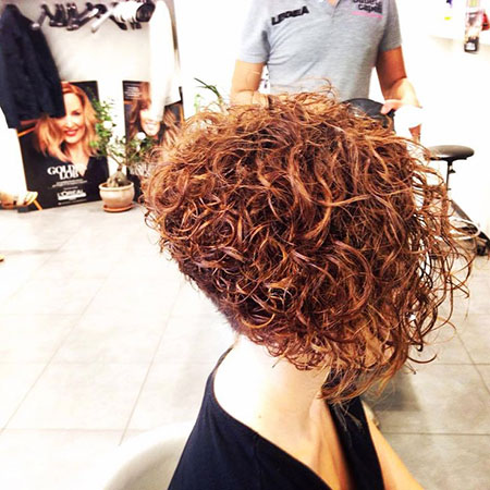 Curly Stacked Bob Perm