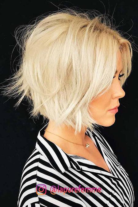 Bob Blonde Hair Lob