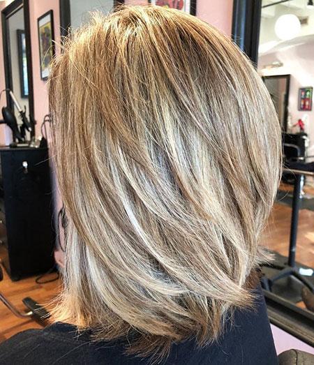 Blonde Layered Balayage Medium