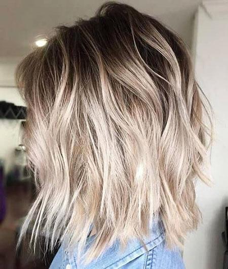 Blonde Balayage Hair Short