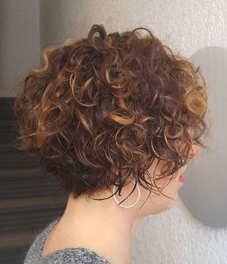 Curly Short Bob Brunette