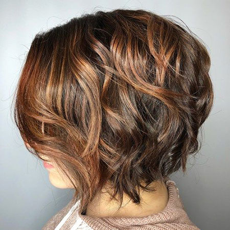 Brown Highlights Layered Hair