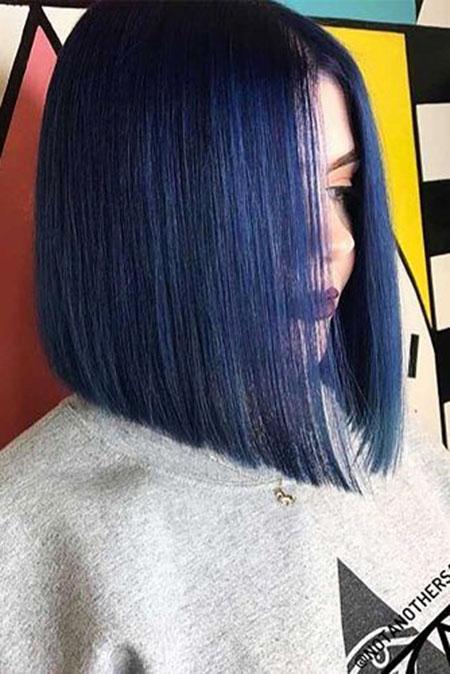 Hair Bob Blue Black