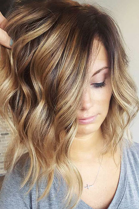 Medium Bob Hair, Hair Color Balayage Big