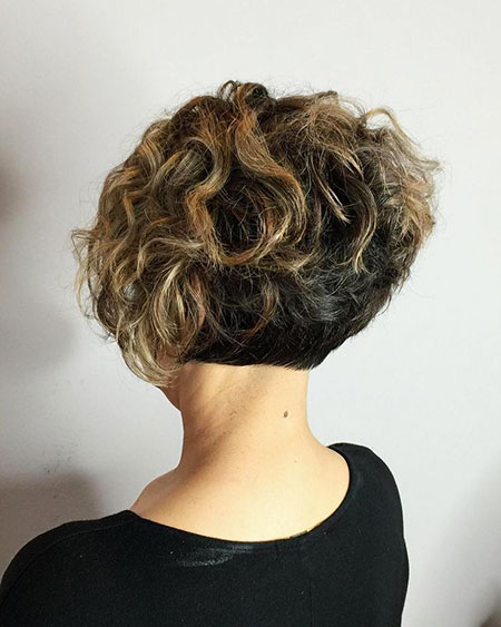 Short Curly Hairtyles for Women, Curly Short Bob Wavy