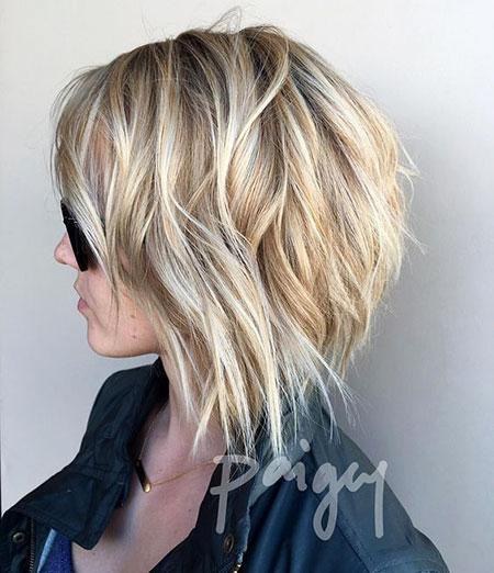 Blonde Choppy Hair, Bob Blonde Choppy Balayage