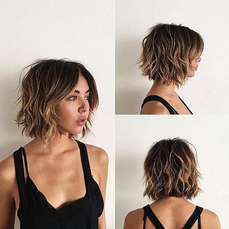 Curtain Bangs Short Hair, Messy Short Wavy Bangs