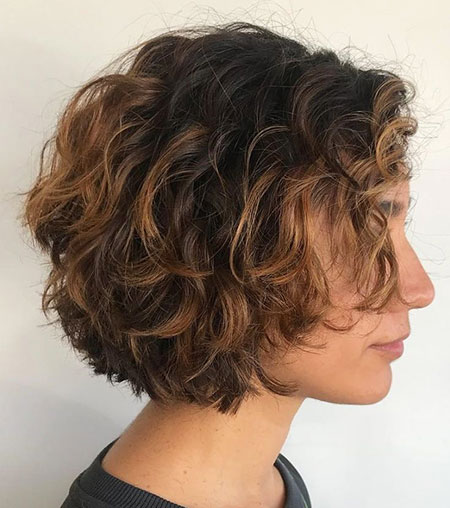 Textured Bob Hair, Curly Short Textured 50