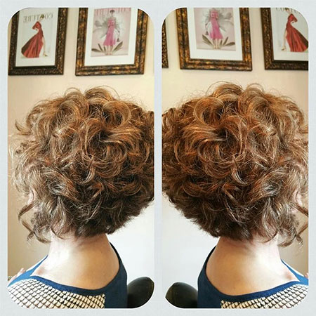Curly Bob Inverted Hairtyles