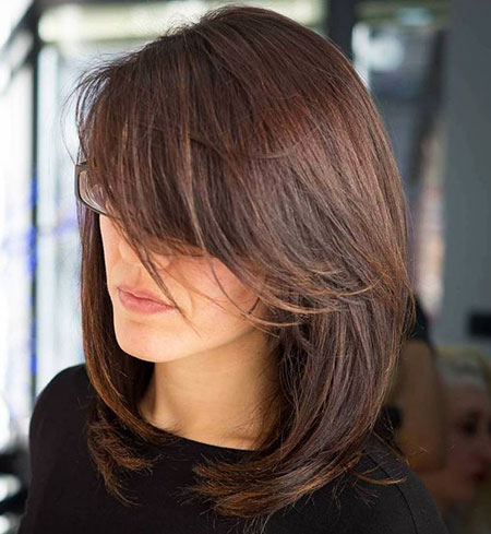 Layered Hair, Layered Length Shoulder Side